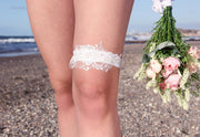 PEARL AND LACE GARTER  garter - StudioSharonGuy