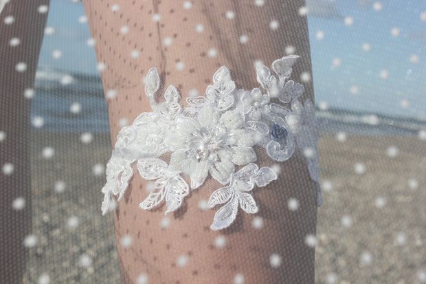 LACE WEDDING GARTER - StudioSharonGuy - garter - wedding dresses - beach - boho