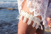 LACE FRINGES BRIDAL GARTER - StudioSharonGuy - garter - wedding dresses - beach - boho