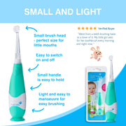 BabySonic Electric Toothbrush and Chewable Toothbrush Teether Oral Care Set