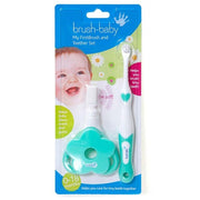 FirstBrush and Teether Set - BrushBaby - best babys toothbrush pack