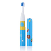 go kidz travel toothbrush childrens electric toothbrushes blue stickers