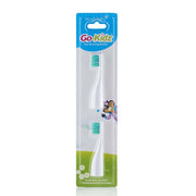 go kidz travel toothbrush childrens electric toothbrushes replacement heads 2 pack