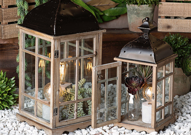 Lanterns + Lights + Succulents #rodworksfeaturedfaves