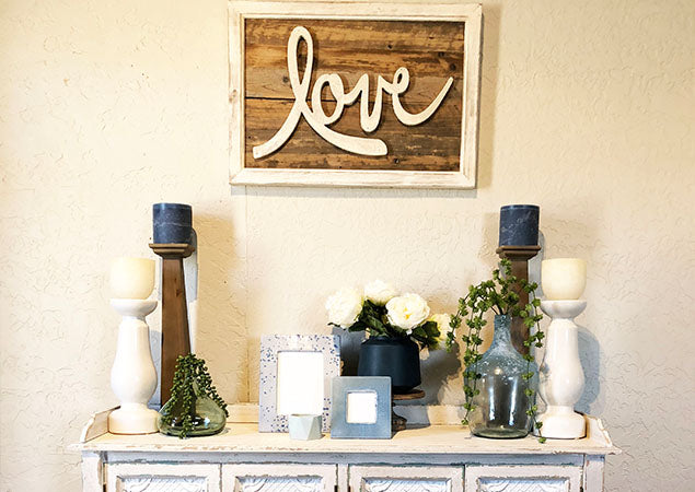 How To Style A Fireplace Mantel Or Entryway Table