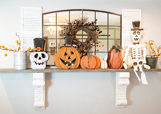 Halloween Mantle Decorating