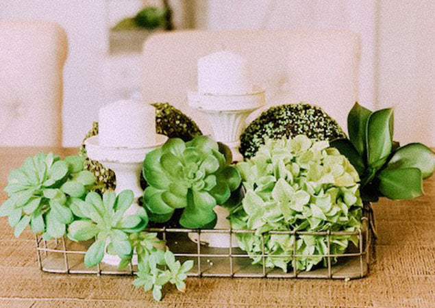 Using Faux Greenery In Centerpieces