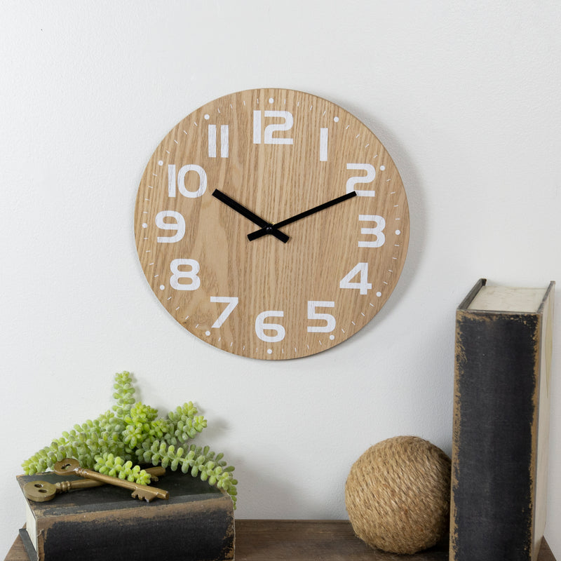 Wood Clock with Antique Finish