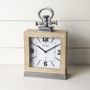 Wooden Table Clock 13""