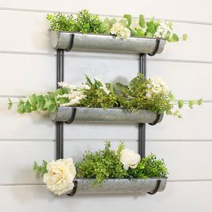 Metal Triple Wall Planter