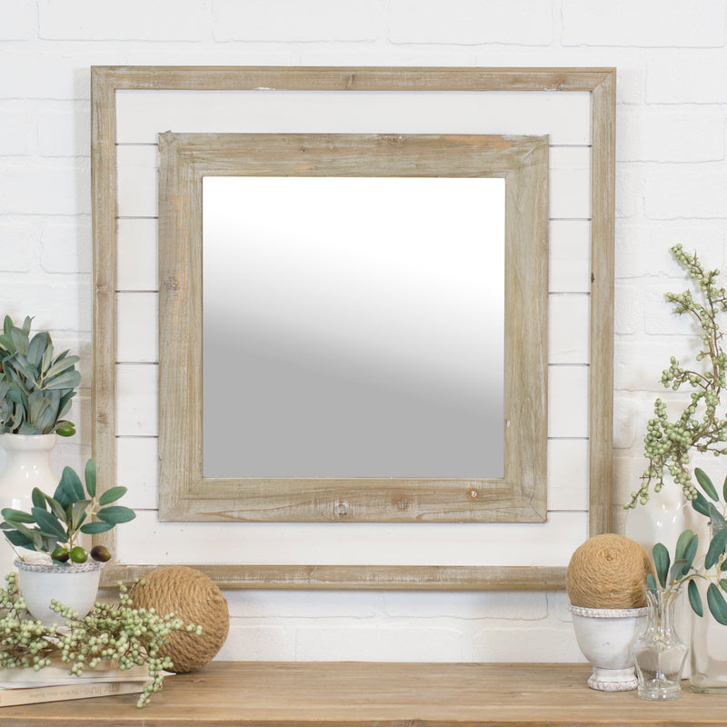 SQUARE SHIPLAP MIRROR