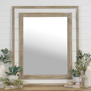 RECTANGULAR SHIPLAP MIRROR
