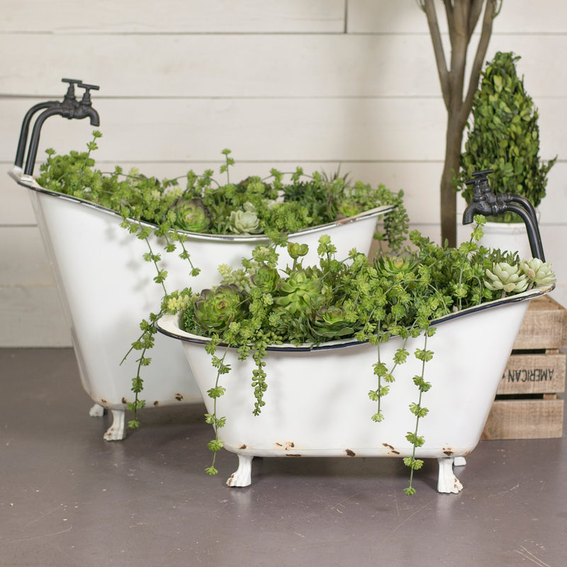 Outdoors Tub Planters Set/2