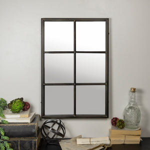 6 Panel Mirror Metal Frame