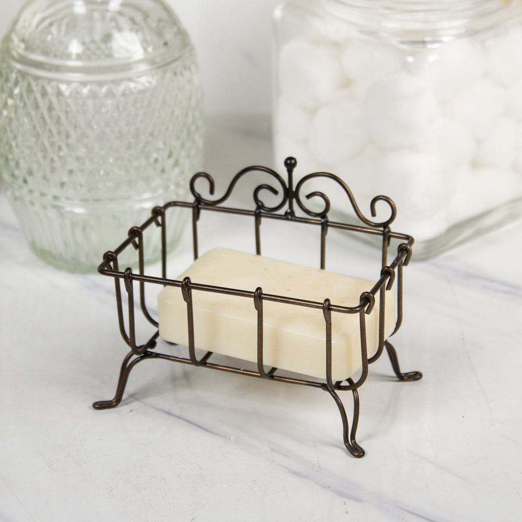 Metal Soap Holder with Natural Finish
