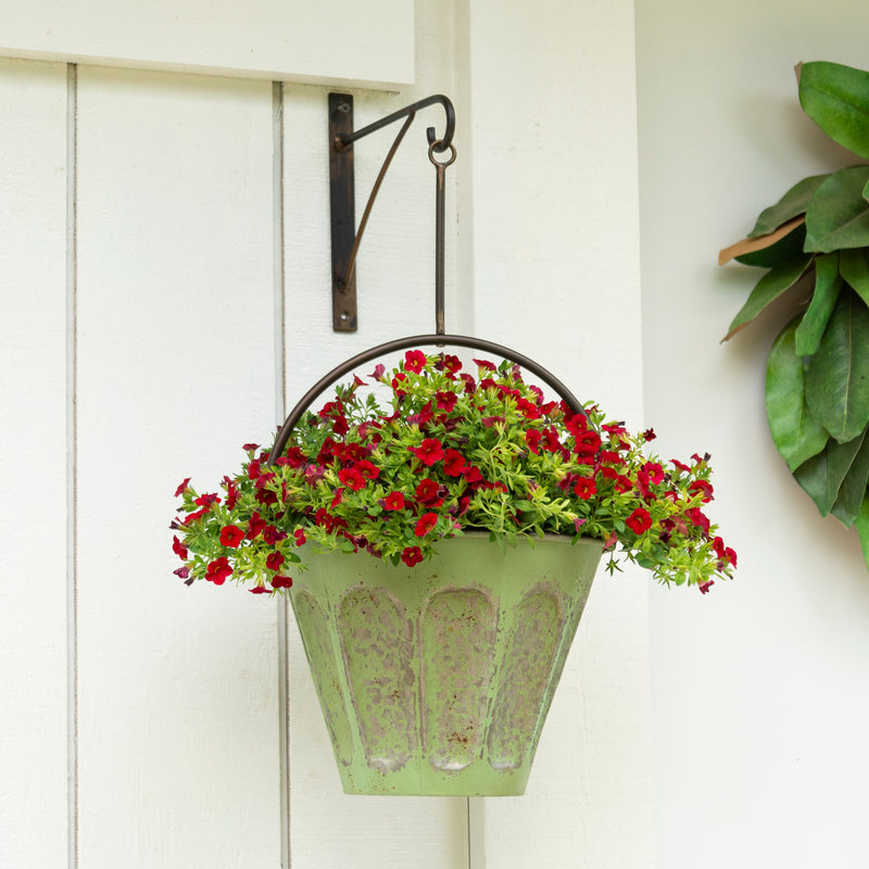 Metal Hanging Planter with Wall Mount