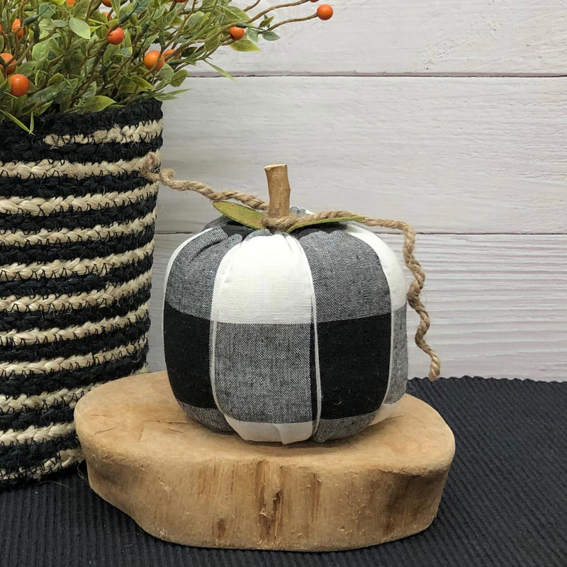 Medium Black Check Pumpkin
