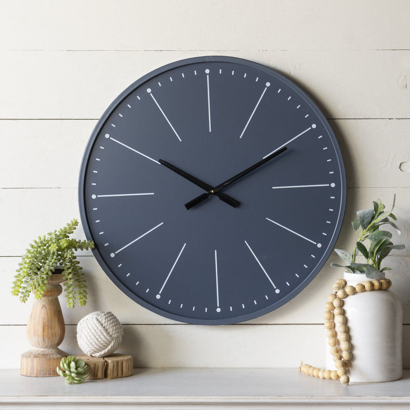Navy Blue Wall Clock 24