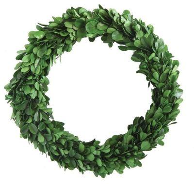 Real Preserved Boxwood Wreath - 9.75in