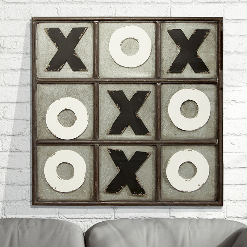 Metal Tic Tac Toe Wall Decor
