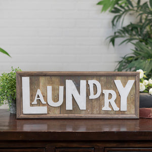 "Wood Word Art ""Laundry"""