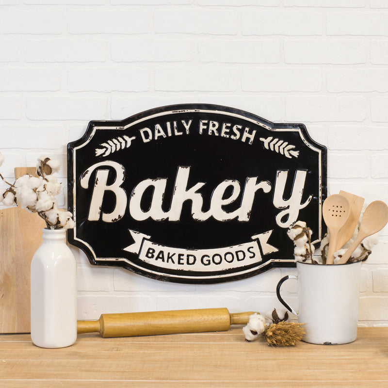Large Black Bakery Sign