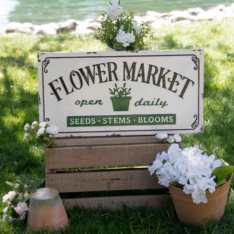 "Metal Sign ""Flower Market"""