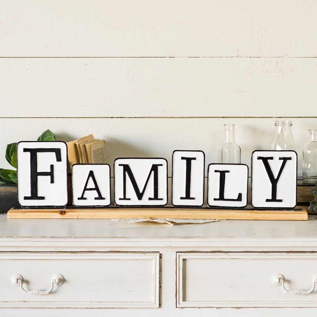"Tabletop Sign ""Family"""