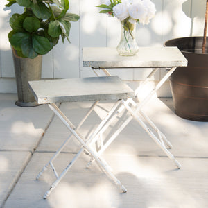 Metal Tables S/2 with Antique Finish
