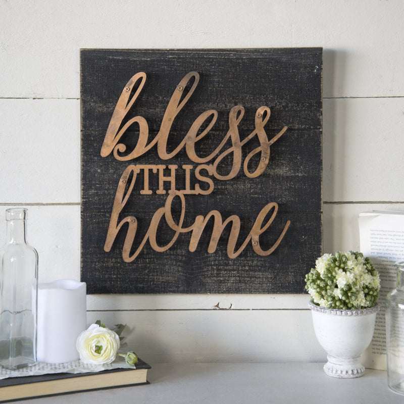"""Bless This Home"" Sign"