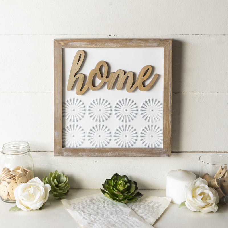 "Wooden ""Home"" Sign 12"""