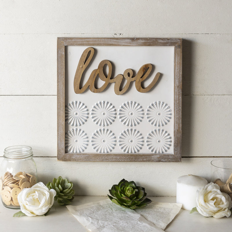 "Wooden ""Love"" Sign 12"""