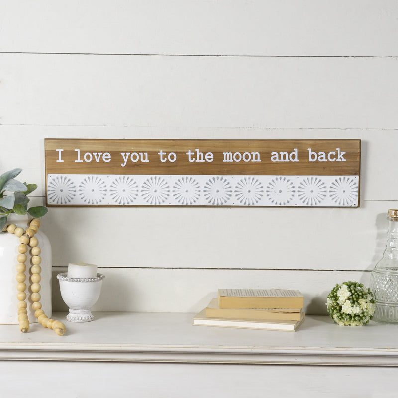 """Moon and Back"" Sign 27"""