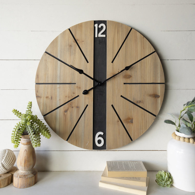 Black Stripe Clock 26