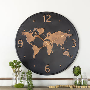 World Wall Clock 24""