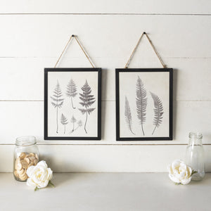Set of Two Leaf Prints 14.5""
