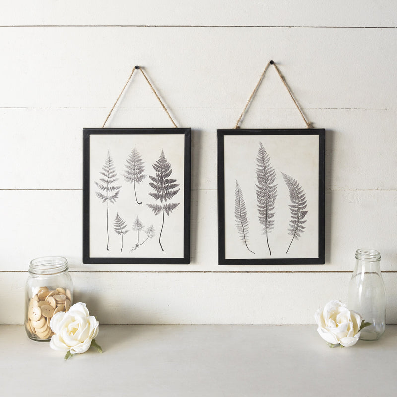 Set of Two Leaf Prints 14.5