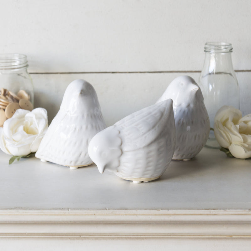 Set of Three Ceramic Birds 5.5