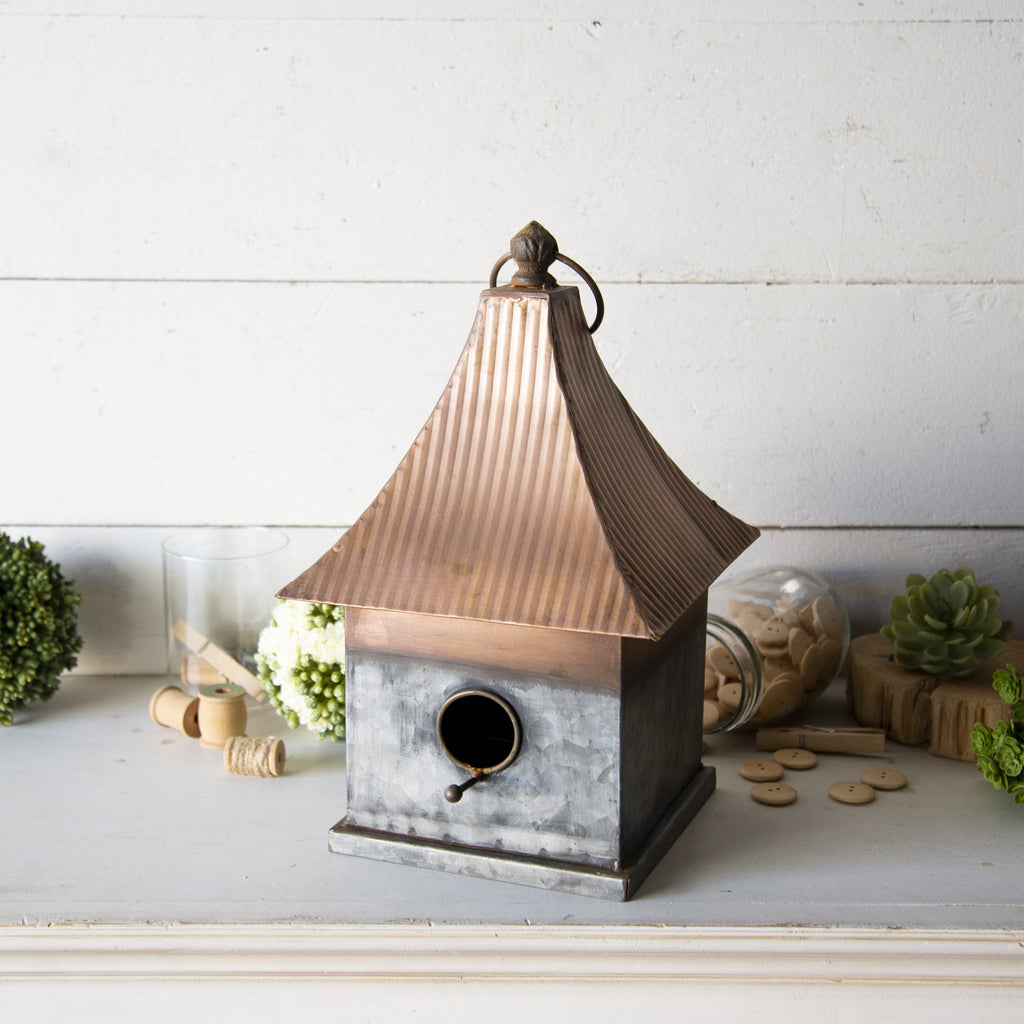 Metal Birdhouse 14""