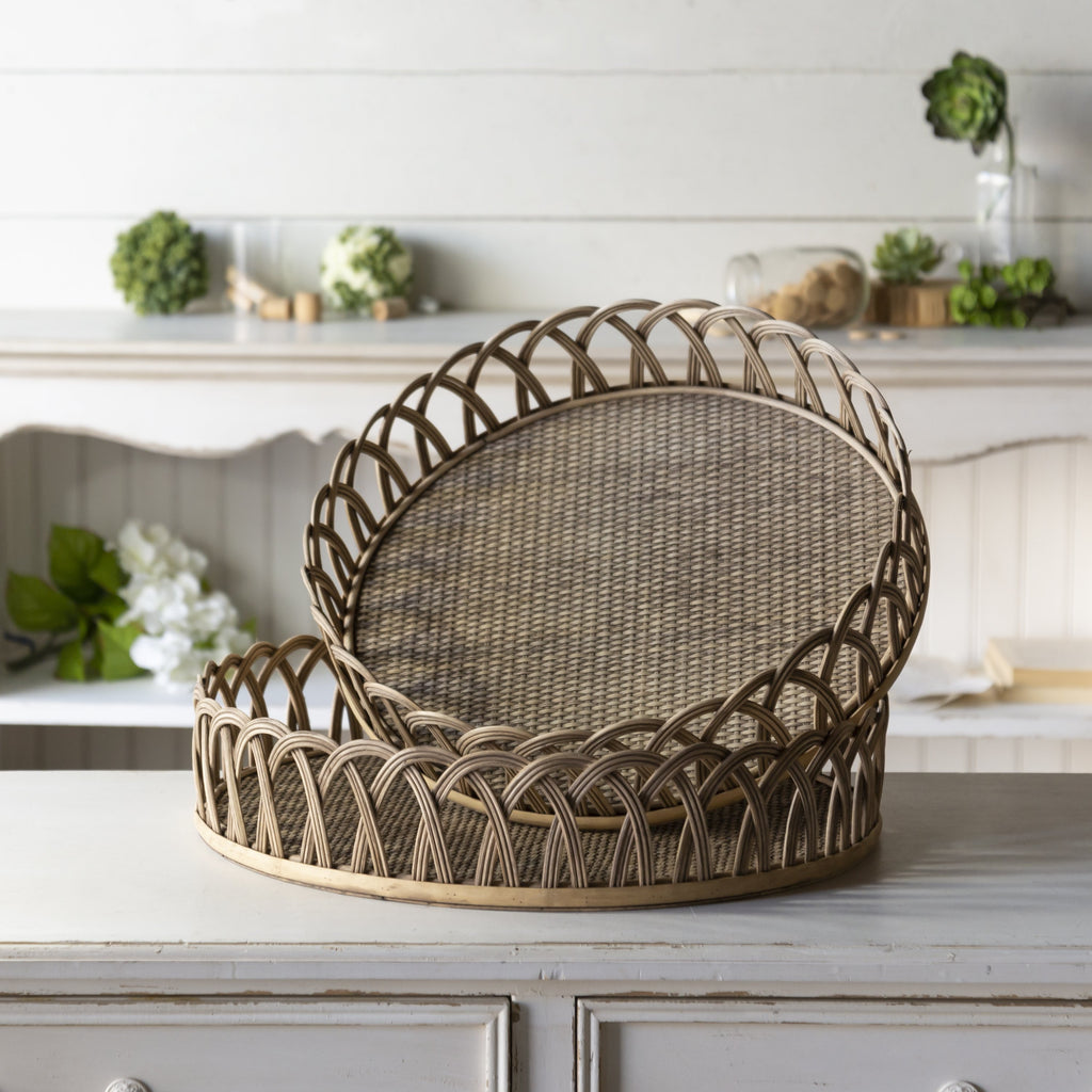 Set of Two Rattan Trays