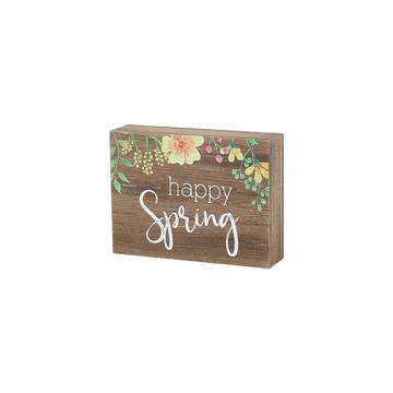"""Happy Spring"" Floral Sign"