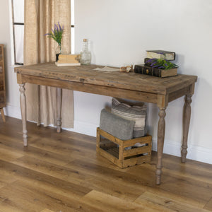 Wood Table with Antique Finish