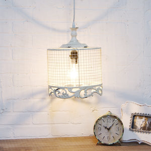 Metal Light with Distressed Finish