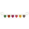"WOOD 4"" HEART TAGS GARLAND"