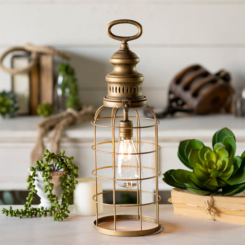 Gold Lantern with LED