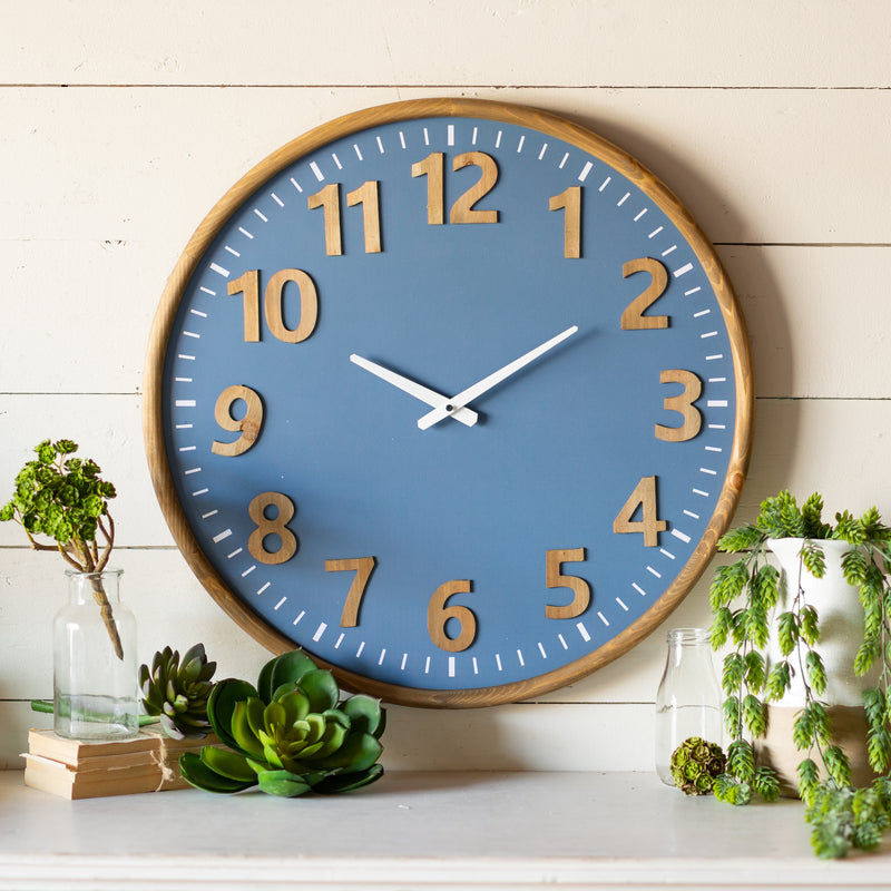 Wood Wall Clock with Solid Wood Frame