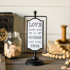 "Swivel Sign ""Love"""