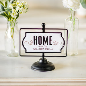 "Swivel Sign ""Home"""