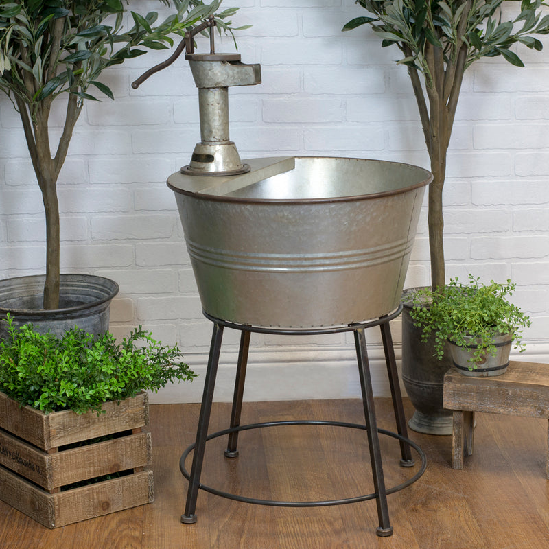 Outdoors Galvanized Tub