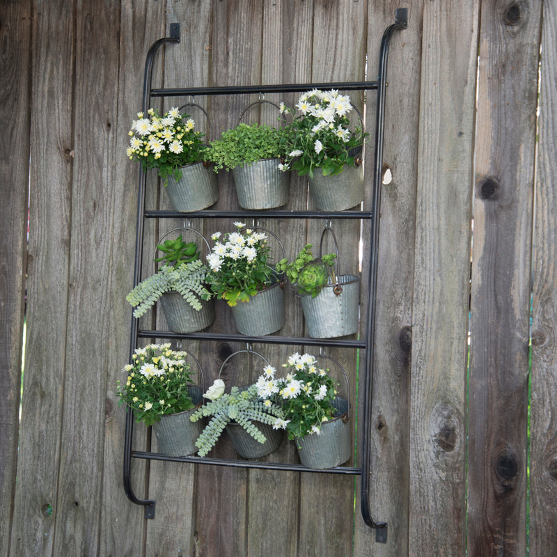 Outdoors Wall Planter W/ Buckets